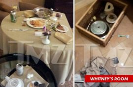 So who removed Whitney Houston's coke stash?