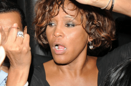 Whitney Houston: Coke head who drowned.