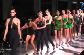 It's time to watch a high fashion model trip over and over on the runway.
