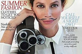 Christy Turlington is brave enough to don a pencil thin moustache. Are you?