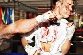 Justin Bieber is a knock out. Literally….