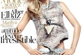 So what's up with Doutzen Kroes' April Paris Vogue cover?