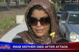 Iraqi Woman dies after found severely beaten with a note saying; go back to your country.