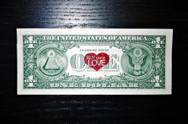 'Buy some love.' So how much would you pay for a dollar bill?