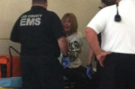 Now woman arrested after punching and spitting at air steward for not serving her booze.