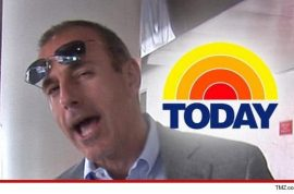 Matt Lauer re-signs with the Today show whilst Ann Curry is a goner.