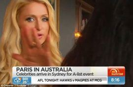 Video: Paris Hilton punishes tv reporter for being asked about waning fame.