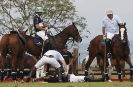 Prince Harry said to have saved life of fellow polo player after head on collision.