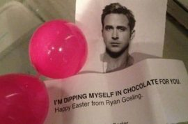 Ryan Gosling impersonator steps forward to admit she is the easter bunny twitter impersonator.