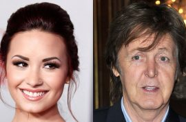 Demi Lovato would like to confess she nearly ran over Paul McCartney.