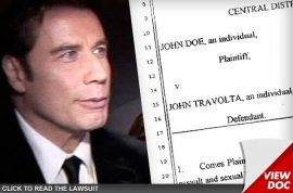 John Travolta threatens to counter sue masseur who claims Travolta tried to have gay sex with him.