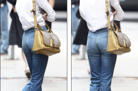 Skinny Ali Lohan seen strutting downtown NYC with disastrous look.