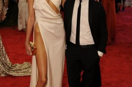 Anja Rubik turns up to Met Ball wearing no underwear and her hip bones showing.