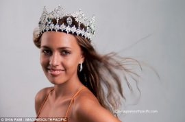 White Miss Fiji stripped of her title. Not frizzy enough…