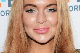 Lindsay Lohan's face worse for wear; puffy and blotched.