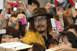 Japanese Johnny Depp meets real Johnny Depp.