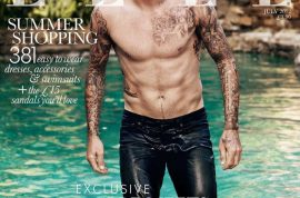 David Beckham Elle cover causes my peen to take notice.