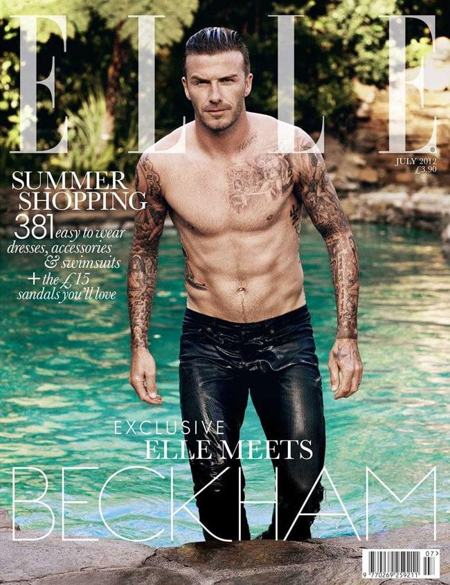 David Beckham for Elle UK cover.