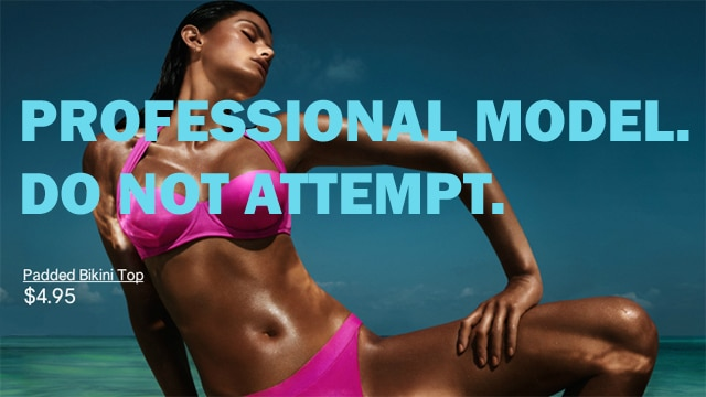 H&M swimwear campaign featuring Isabel Fontana