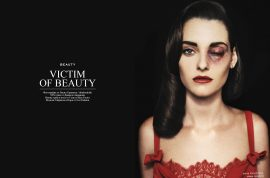 Bulgarian magazine '12' publishes brutal violence against women as fashion spread.