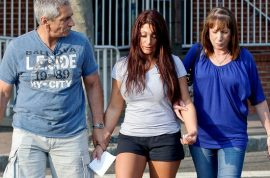Deena Cortese's humiliated parents collect their daughter after arrest.