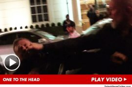 Rihanna's bodyguard throws savage knockout punch to paparazzo.