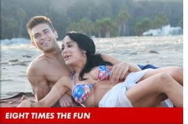 Octomom and her boyfriend Frankie G go on a private date.