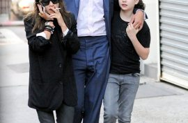 Mary Kate Olsen and Olivier Sarkozy take a very interesting stroll with Olivier's daughter.