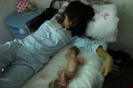 Graphic images: China forces 7 month pregnant woman to have an abortion.