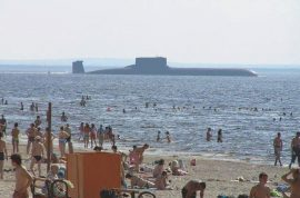 French beaches have yachts, Russian beaches have nuclear subs.