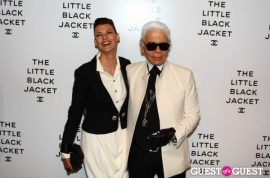 Karl Lagerfeld followed by butler. Hawt bixch of Chanel.