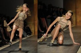 Video: The ultimate runway models fails compilation. Cause runway modeling is hard work…