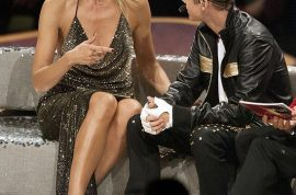 Video: Justin Bieber and Heidi Klum finally meet on Germany's Next top Model.
