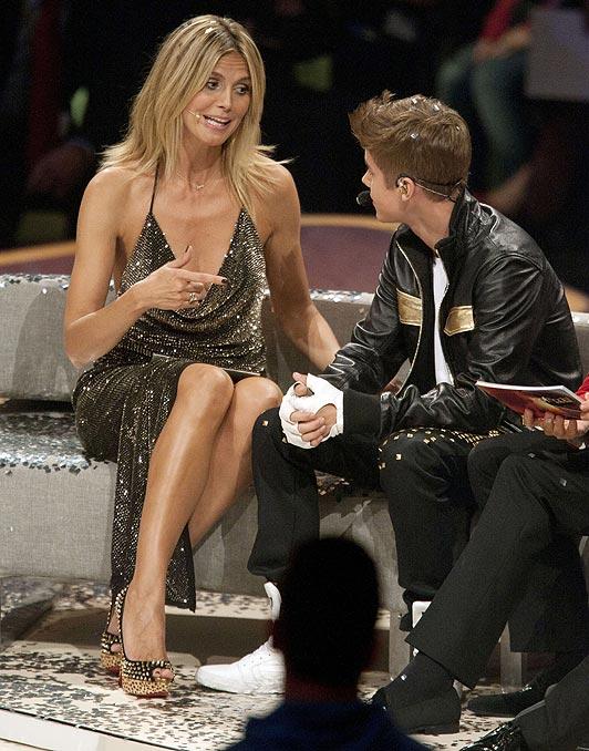 Heidi Klum and Justin Bieber