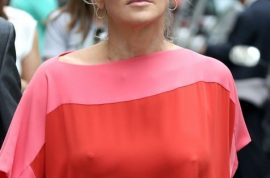 Sharon Stone's nipples are all the rage in Paris.