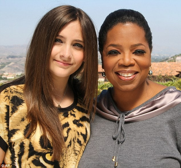 Paris Jackson and Oprah Winfrey