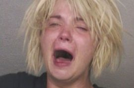 Mug shot of highway stripper crack head goes viral.