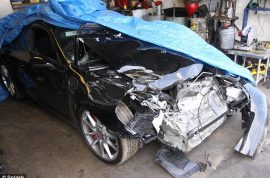 Lindsay Lohan car crash: 'My brakes failed!'
