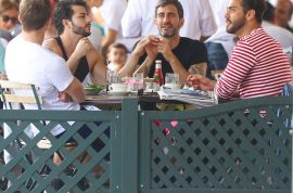 How sweet! Marc Jacobs takes current boyfriend and ex fiance out for lunch.