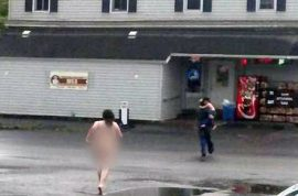 Video: Mom running around street naked high on bath salts tasered to death.