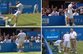 David Nalbandian disqualified now faces assault charges. Would like to explain why he is a douchebag.