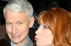 Anderson Cooper to asshole passenger: 'Bixch, what are you doing?'