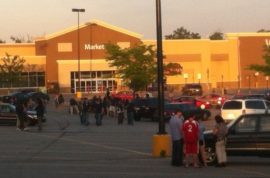 Walmart store evacuated after shopper pitches portable meth lab.