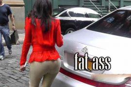 Kim Kardashian's ass just keeps getting bigger.