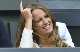 Andy Murray's girlfriend, Kim Sears cries along with her hero as he loses Wimbledon.