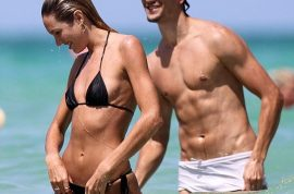 Oh my! Candice Swanepoel is the bikini goddess with her hawt boyfriend.