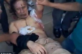 (Graphic) Video of Muammar Gaddafi's dead body being abused turns up. A string puppet…