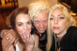 Oh look! Lady Gaga shares Lindsay Lohan Slumber party pictures.