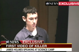First video of James Holmes surfaces. Wished to become a researcher and to make scientific discoveries.