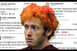 Women are now going to twitter and saying how sexy James Holmes really is.
